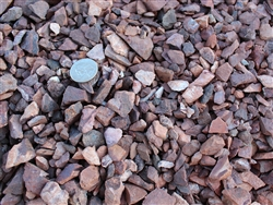 "Jesse Red Rock Gravel 1/2"" Screened Truck Load - Landscape Rock Near Me"
