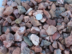 "Jesse Red Rock Gravel 1"" Screened Truck Load - Landscape Rock Near Me"