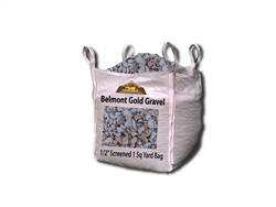 "Belmont Gold Gravel 1/2"" Screened Per yard -Landscape Rocks"
