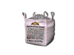 "Apache Brown Gravel & Rock 4"" Minus Per Ton"