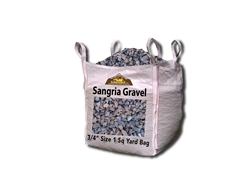 "Sangria Gravel 3/4"" to 1-1/8"" Screened Per Yard - Landscape Rocks"