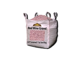 "Wine Red Gravel 3/8"" Screened Per Yard - Gravel Near Me"