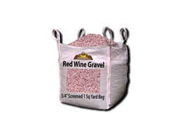 "Wine Red Landscape Gravel 3/4"" Screened Per Yard - Gravel Near Me"