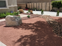 "Apache Pink Gravel 3/8"" Truck Load - Crushed Granite"