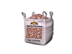 "Apache Pink Colored Landscape Gravel 1"" - Crushed Stone"