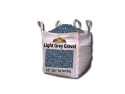 "Light Grey Gravel 3/8"" Price Per Yard - Stone Quarry"