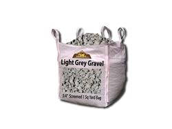 "Light Grey Gravel 3/4"" Price Per Yard - Landscape Gravel"