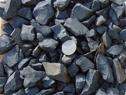 "Black Indigo Decorative Rock 3/8"" Screen Bulk Per Ton"