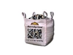 "Black Indigo Landscaping Rock 2"" - 4"" Screen Bulk Per Ton"