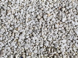 White Marble Crushed Rock 3/8""