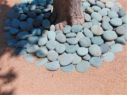 "Black Mexican Beach Pebbles La Paz 5"" to 8"""