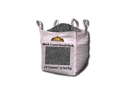 Black Crystal Basalt Gravel Rock 3/8""