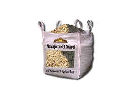 "Navajo Gold Gravel 3/8"" Screened - Landscaping Rocks"