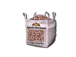 "Apache Red Gravel & Rock 1"" - 4"" Per Ton"