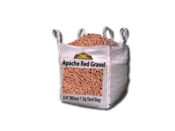 "Apache Red Gravel 3/4"" Minus Per yard - Gravel Cost"