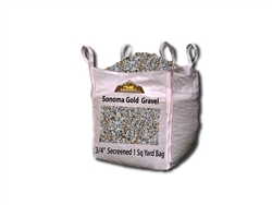 "Sonoma Gold Gravel 3/4"" Screened Per Ton"