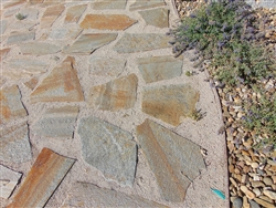 Gold Quartzite Flagstone Patio Grade