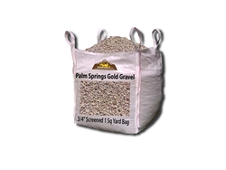 "Palm Springs Gold Gravel 3/4"" Screened Per Yard - Driveway Gravel"