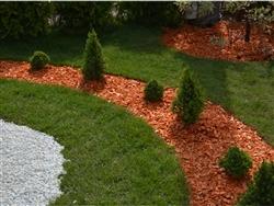 Red Colored Landscape Mulch Per 100 Yards
