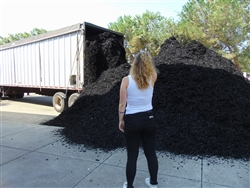 Black Colored Landscape Mulch Per 100 Yards