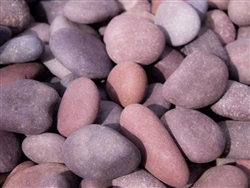 "Red Mexican Beach Pebble 5"" - 8"" Bulk"