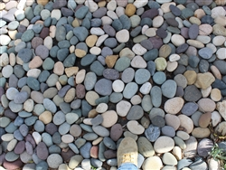 "Mixed Colors Mexican Beach Pebble 1"" - 2"""