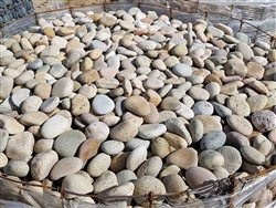 "Buff Mexican Beach Pebble 1""- 2"" Bulk"