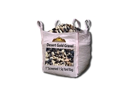 "Desert Gold Rock 1"" Screened Per Yard - Landscape Gravel"