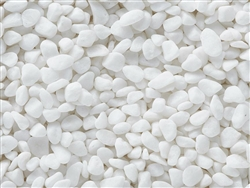 "Nara Snow White Pebbles 1/2"" to 1"""