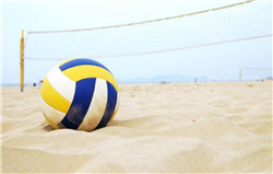Beach Volleyball Court Beach Sand