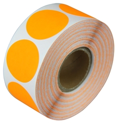 "2"" Fluorescent Orange Circle Stickers"