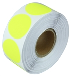 "2"" Fluorescent Yellow Circle Stickers"