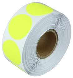 "3"" Fluorescent Yellow Circle Stickers"