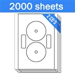 Neato Full Face Compatible - Labels on Sheets (1 Carton - 2000 Sheets)