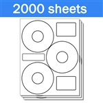 Neato CLP-192301 Compatible - Labels on Sheets (1 Carton - 2000 Sheets)