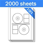 Stomper Compatible - Labels on Sheets (1 Carton - 2000 Sheets)