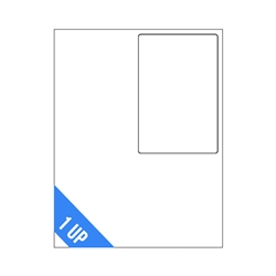 "4"" x 6"" - 1 UP - Top Intergrated Labels on Sheets"