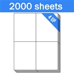 "4"" x 5"" - 4 UP - Labels on Sheets (1 Carton - 2000 Sheets)"