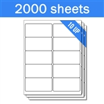 "4"" x 2"" - 10 UP - Labels on Sheets (1 Carton - 2000 Sheets)"