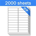 "4"" x 1"" - 20 UP - Labels on Sheets (1 Carton - 2000 Sheets)"