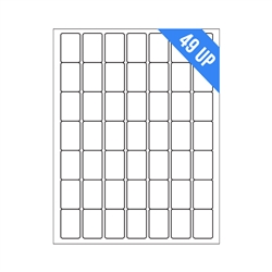 "1"" x 1.5"" - 49 UP - Labels on Sheets"