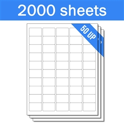 "1"" x 1-1/2"" - 50 UP - Labels on Sheets (1 Carton - 2000 Sheets)"