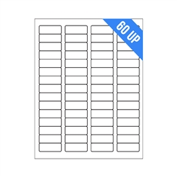 "1.75"" x 0.66"" - 60 UP - Labels on Sheets"