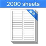 "3.4375"" x 0.65625"" - 30 UP - Labels on Sheets (1 Carton - 2000 Sheets)"