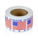 1 x 1 inch - Made In USA Stickers