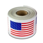 3 x 2 inch - Made in USA Flag Stickers