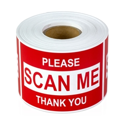 3 x 2 inch - Please,  Scan Me Stickers