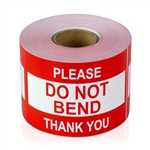 3 x 2 inch - Please, Do Not Bend Stickers