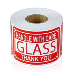 "2"" x 3"" Glass - Handle with Care - Stickers"