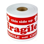 5 x 3 inch -  Fragile Handle With Care with Arrow
